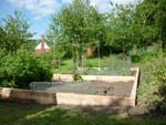 A raised bed for a vegetable plot